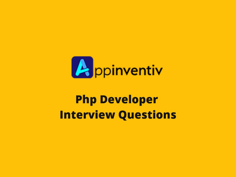 Appinventiv Php Developer Interview Questions