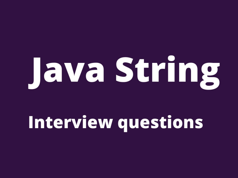 Java String interview Questions