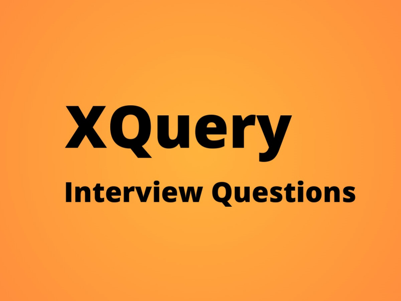 XQuery Interview Questions
