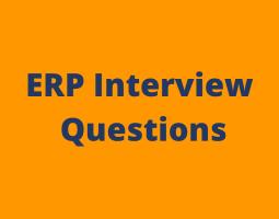 ERP interview questions