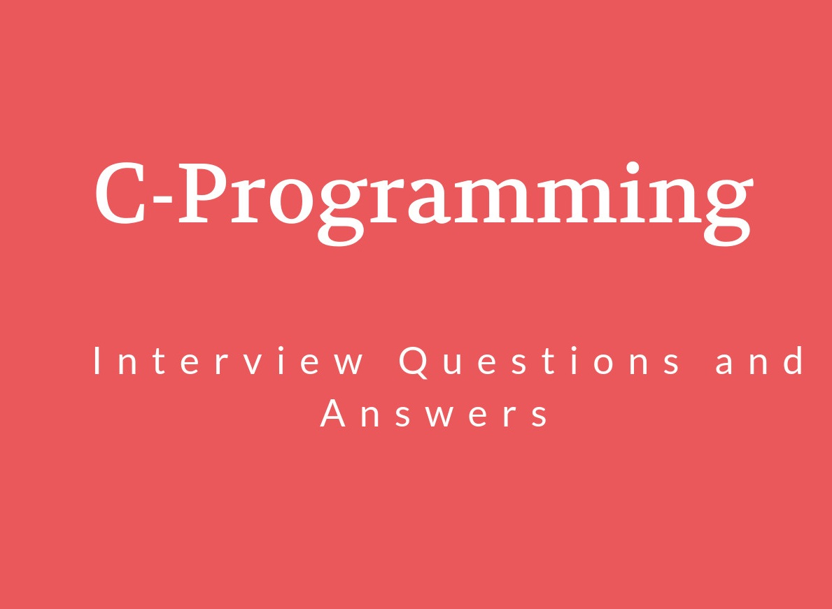 C Programming Interview Questions in 20   Online...