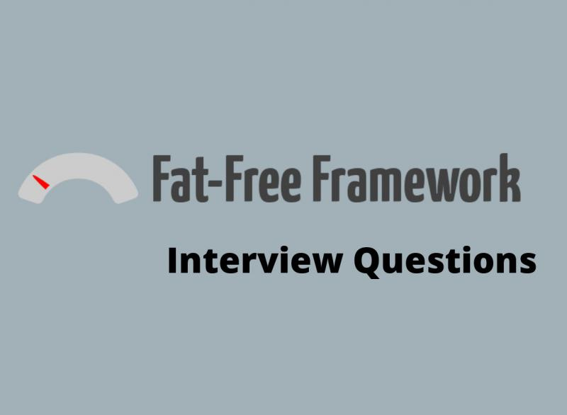 Fat Free Framework interview questions