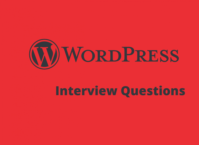 100+ Wordpress Interview Questions in 2019 - Online