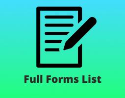 Full Forms List