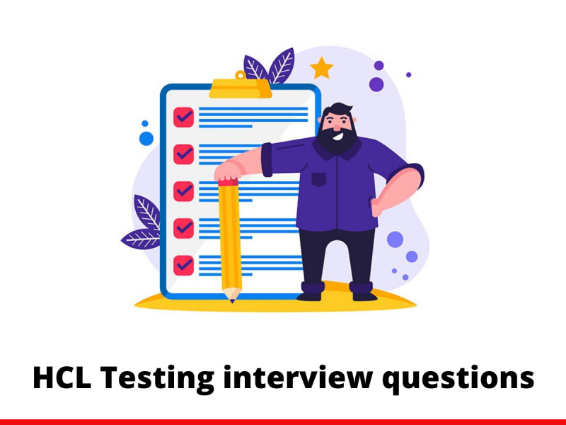 HCL Testing interview questions
