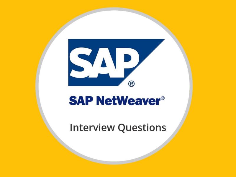 Sap Netweaver Interview Questions
