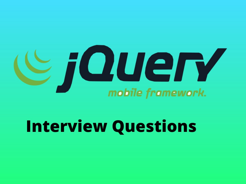 Read Best jQuery Mobile Interview Questions in 2019 - Online