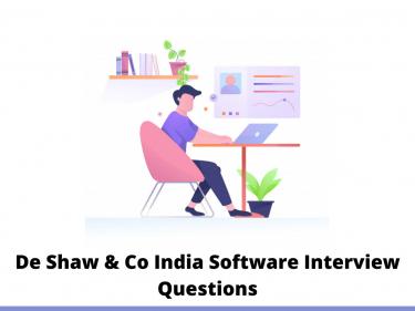 De Shaw & Co India Software