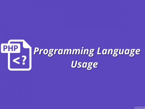 PHP Programming Language Usage