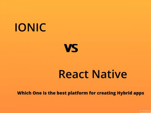 Ionic vs React Native 2018