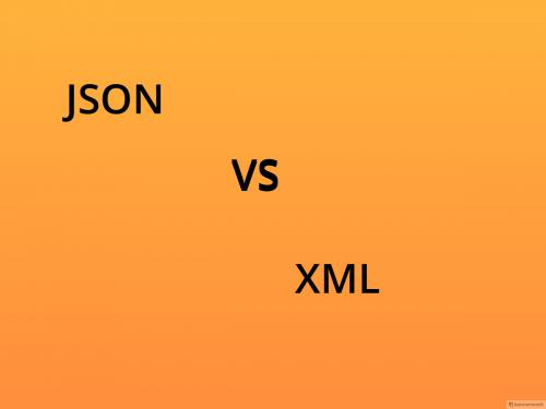 JSON Vs. XML