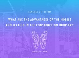 What are the advantages of the mobile application in the construction industry?