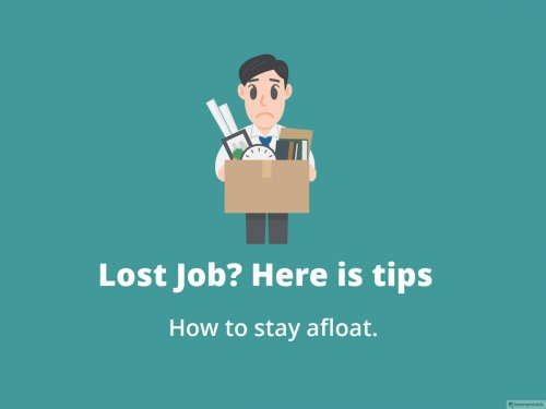 How to stay afloat when you lose your job