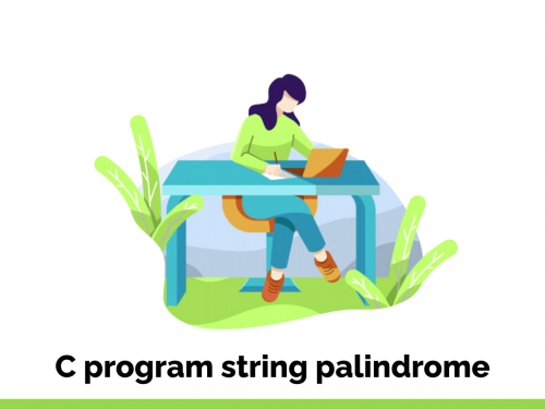 C program string palindrome
