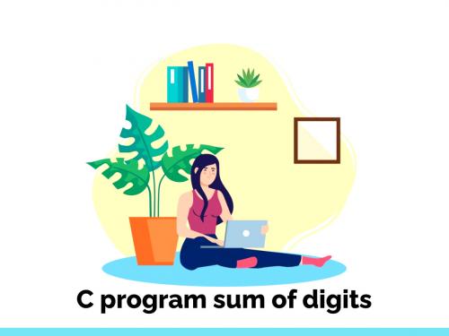 c program sum of digits