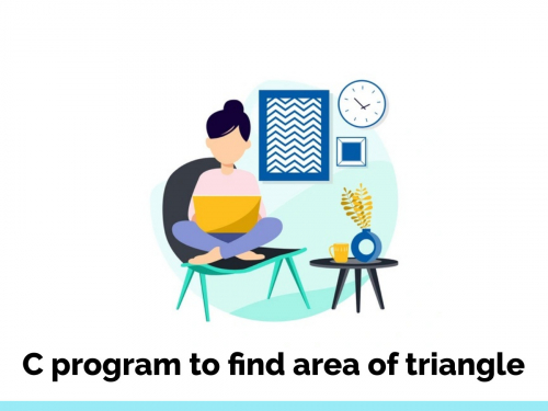 C program to find area of triangle