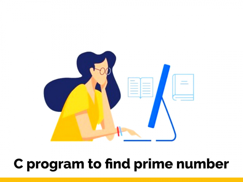 C program to find prime number