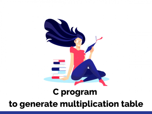 C program to generate multiplication table