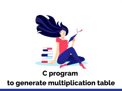 C program to generate multiplication table