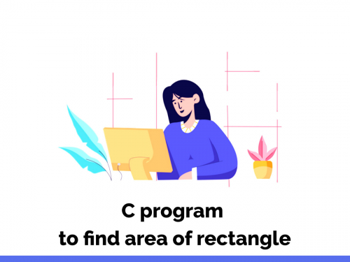 C program to find area of rectangle