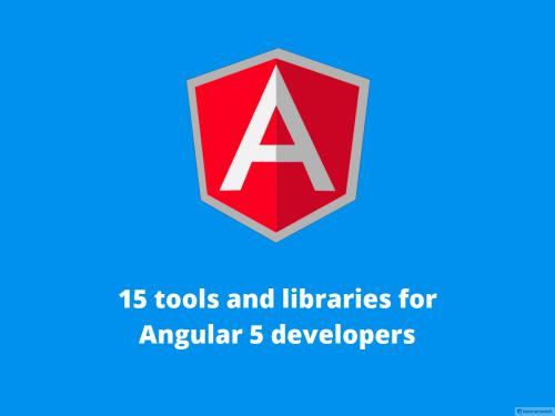 15 Tools and Libraries For Angular 5 Developers