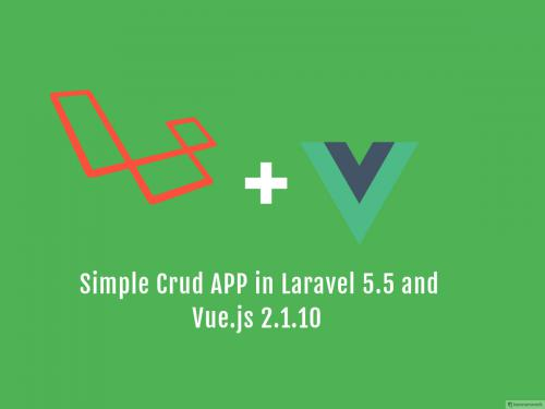 Laravel 5.5 crud application with Vue.js