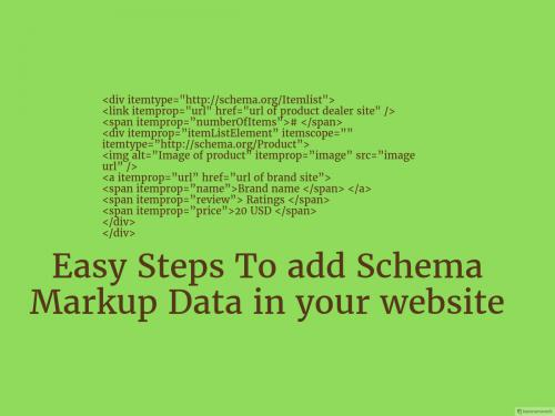 Easy Steps To add Schema Markup Data in your website