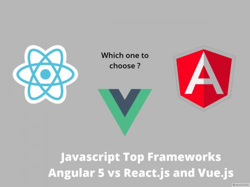 Comparison between JavaScript Top Frameworks react vs angular 2, vue js vs react, ember vs react