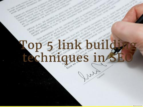 5 SEO link building techniques in 2018 for Freshers